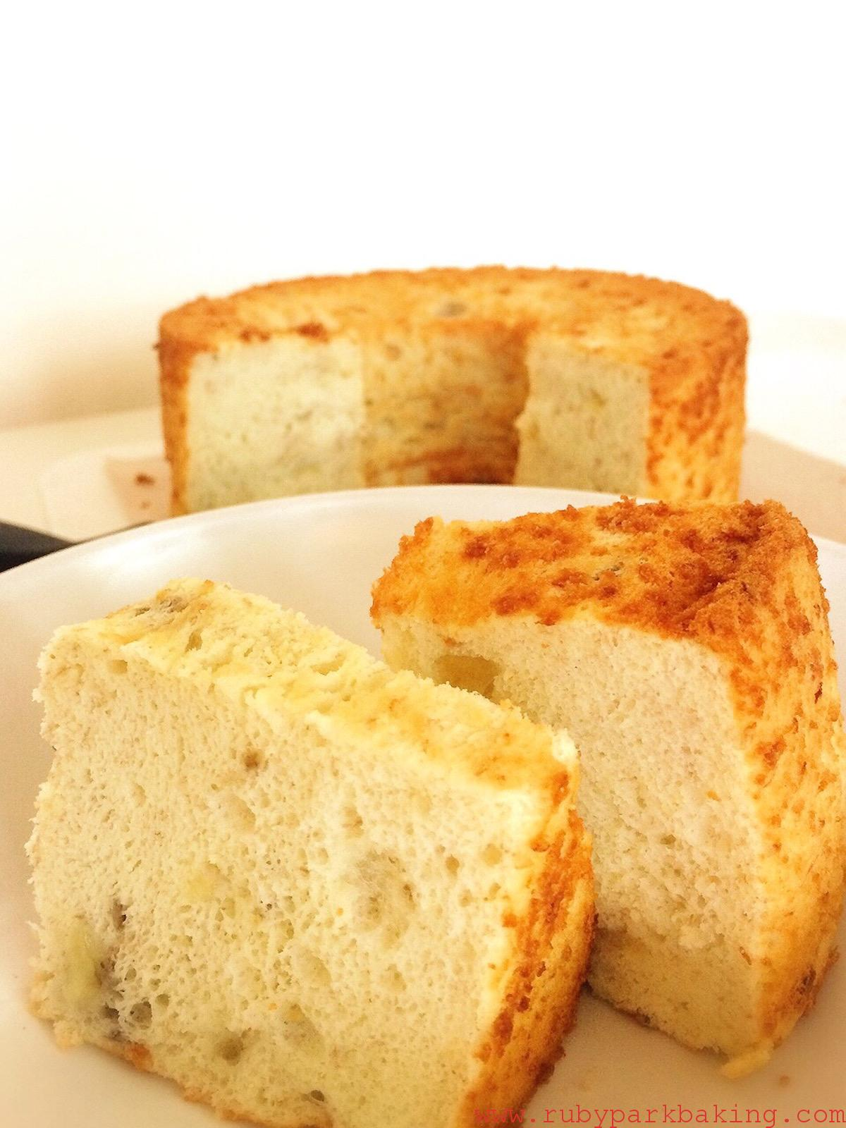 Banana Chiffon Cake made with Rice Flour
