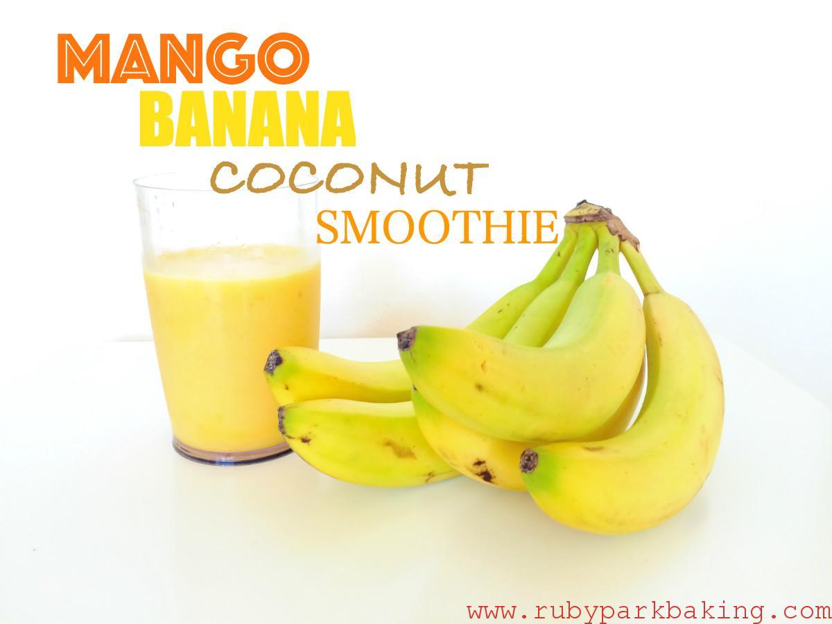 Mango-banana-coconut-smoothie