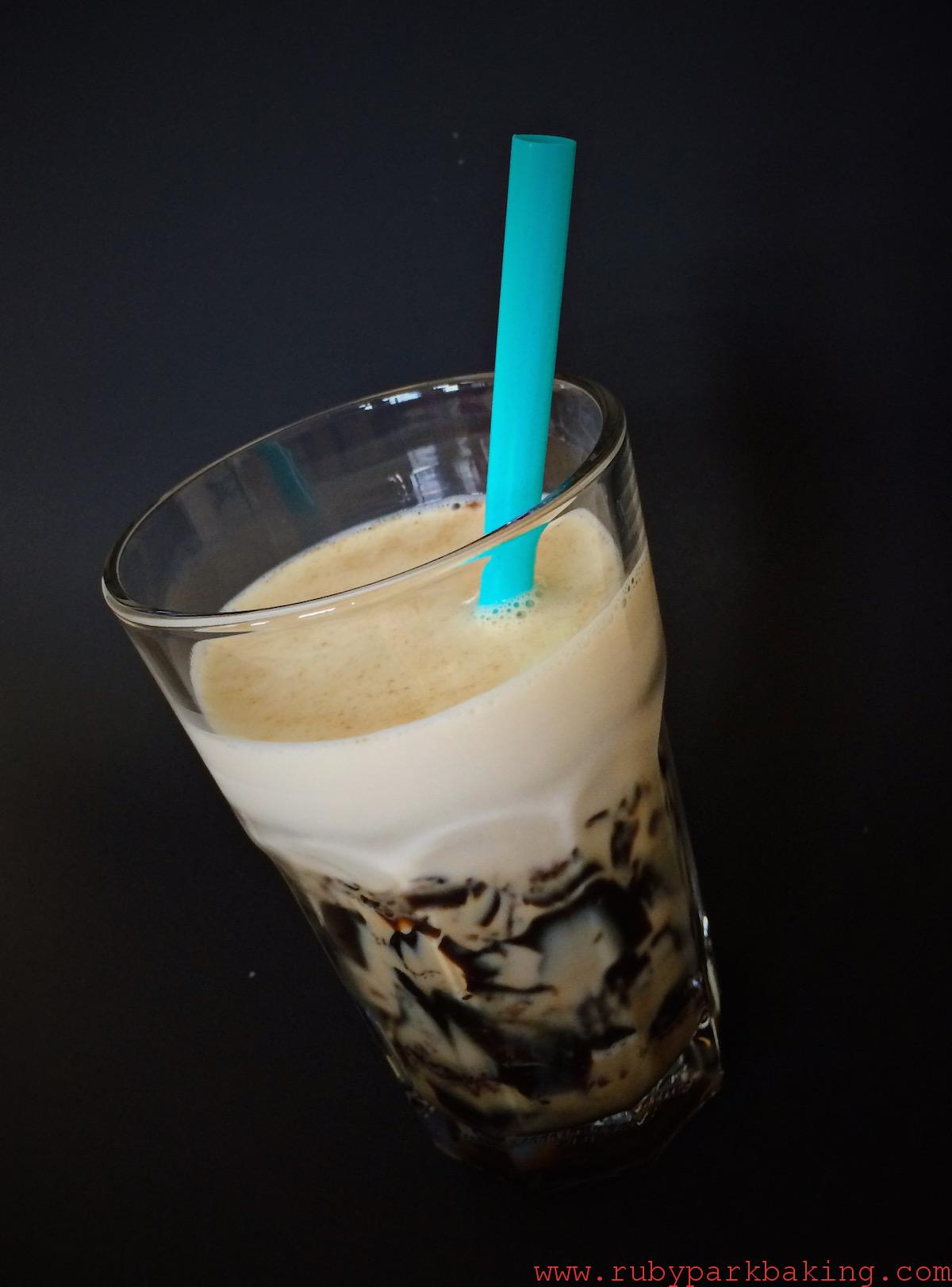 Coffee Jelly Milk on rubyparkbaking.com
