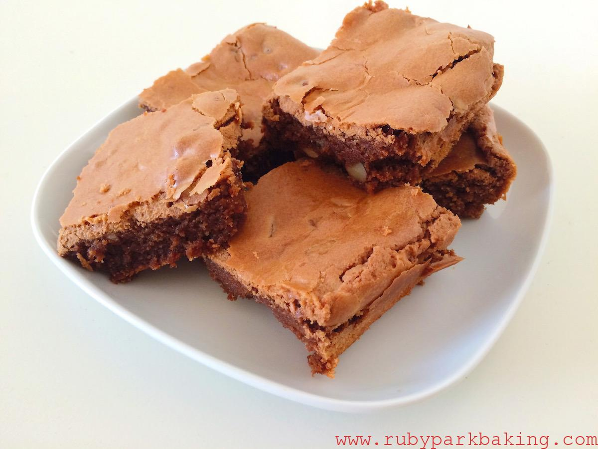 Hazelnut Chocolate Brownie on rubyparkbaking.com