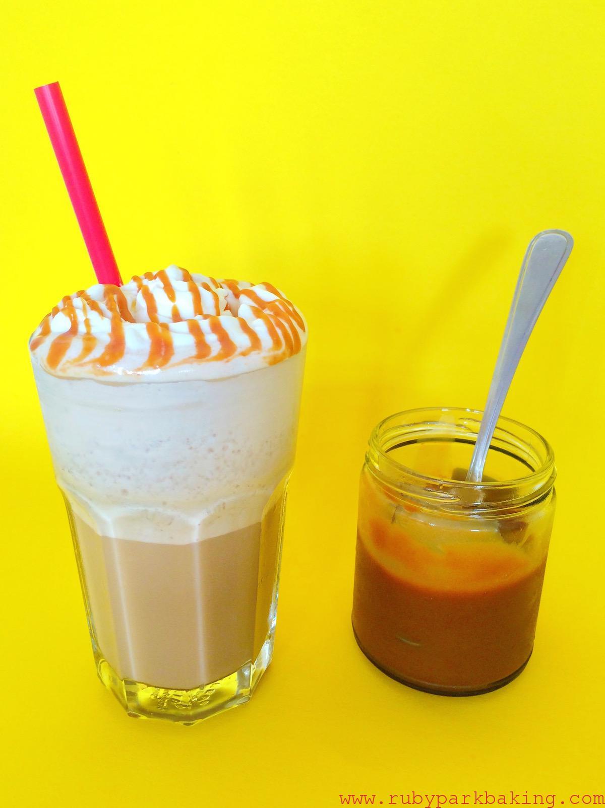 Caramel Frappuccino copycat Cafe au Lait on rubyparkbaking.com