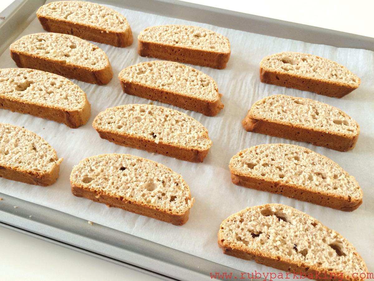 Banana bread biscotti on rubyparkbaking.com