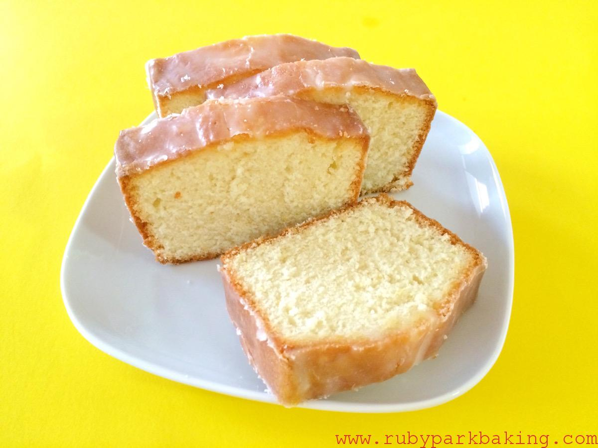 Lemon pound cake on rubyparkbaking.com