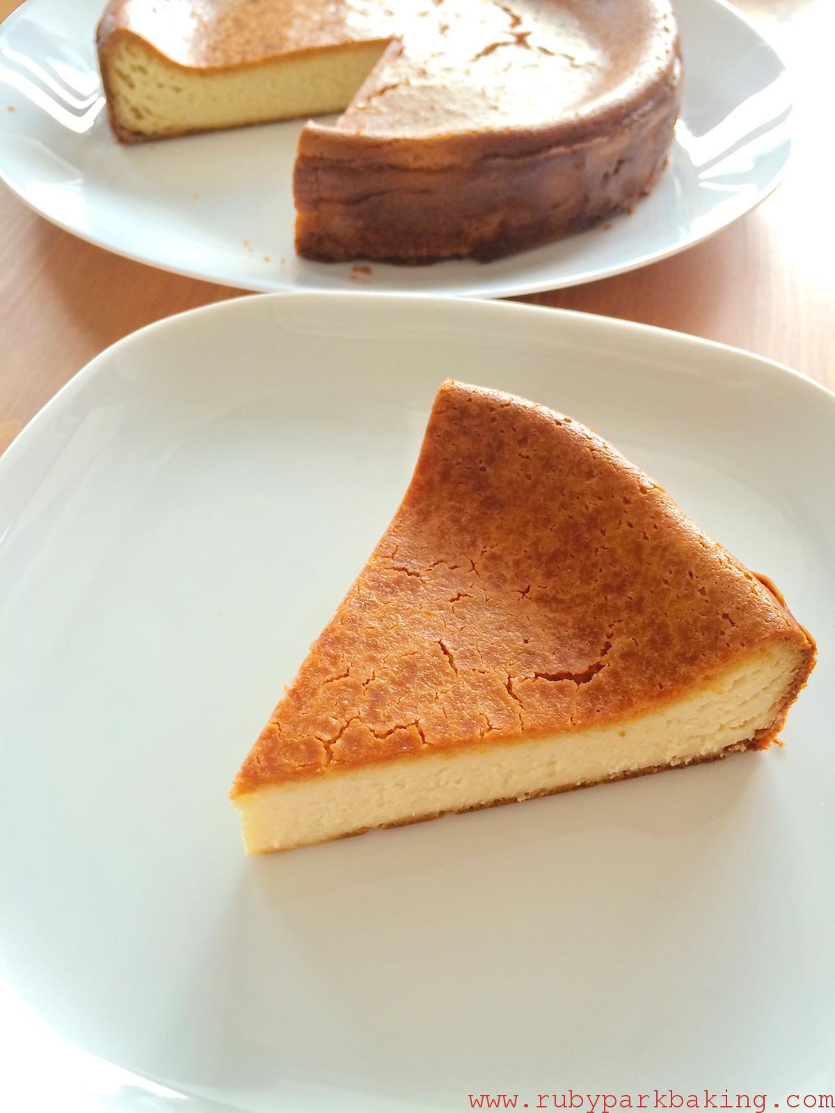 Maple baked cheesecake on rubyparkbaking.com