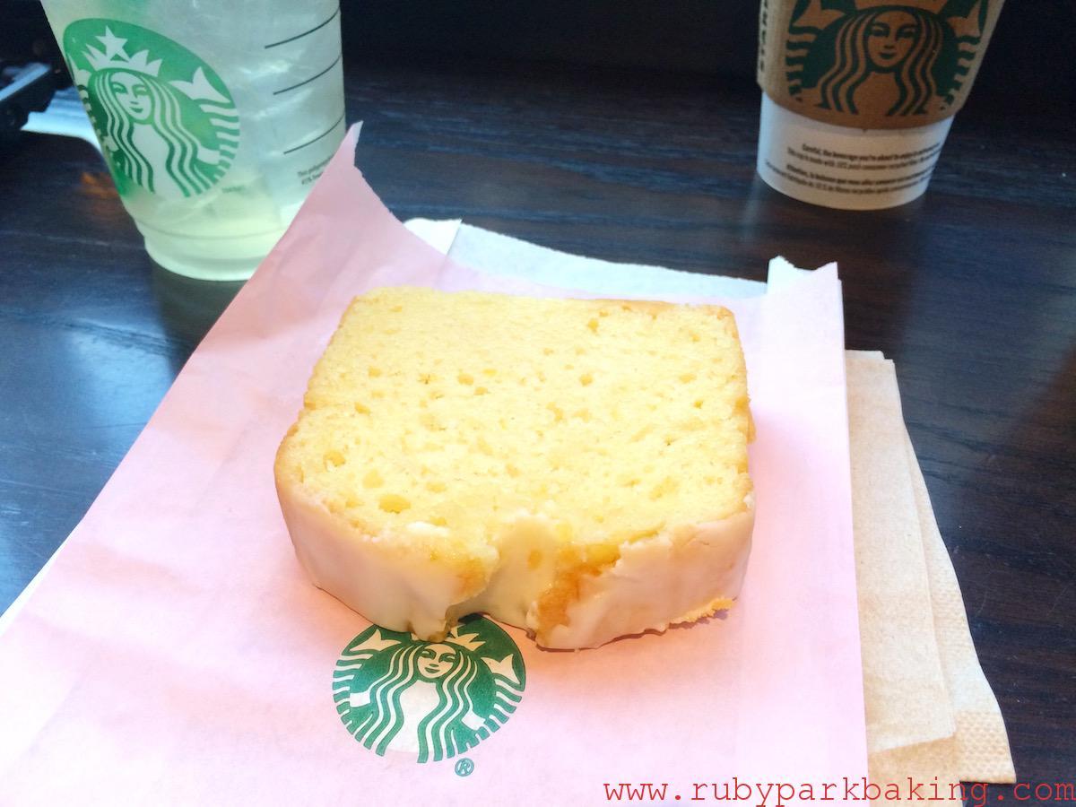 スタバ レモンパウンド ケーキ