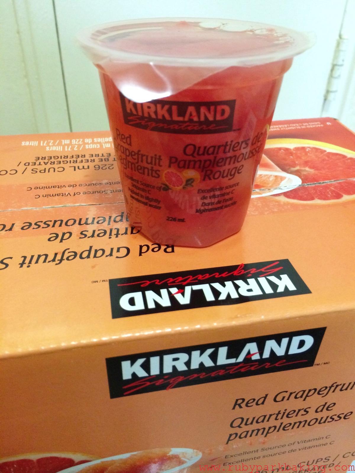 Costco(コストコ)で買ったもの!カークランドのグレープフルーツシラップ漬け最高♪
