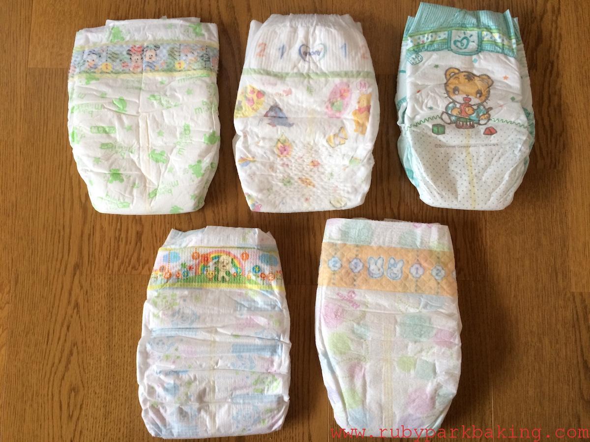 日本のテープ型おむつ比較!使用感など個人的な意見をまとめてみました。