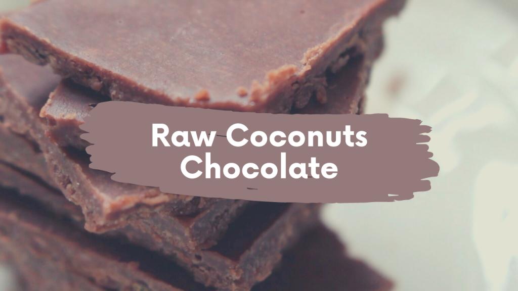 【ヘルシー】ココナッツで作る簡単ローチョコレートのレシピ!混ぜて冷やすだけ【ダイエットにも】