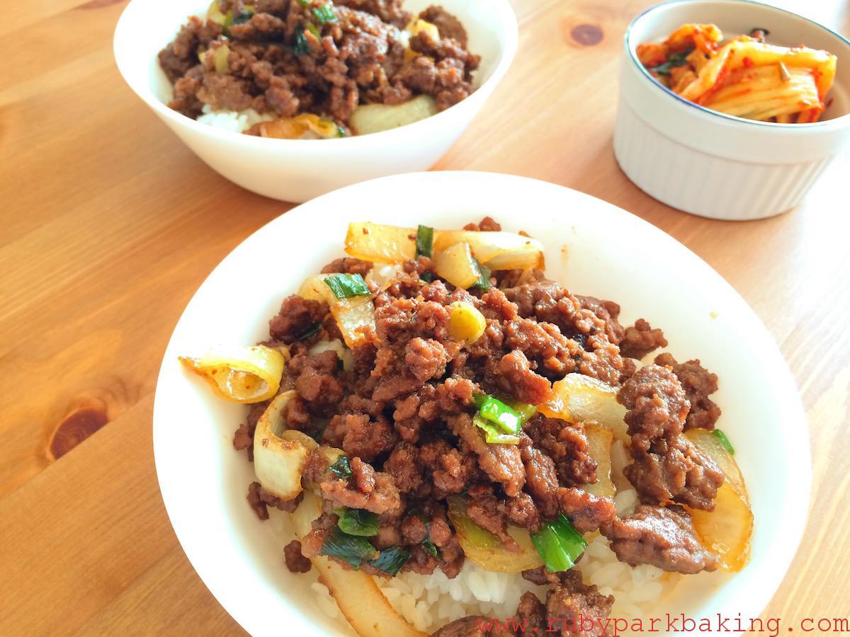 Korean beef rice on rubyparkbaking.com